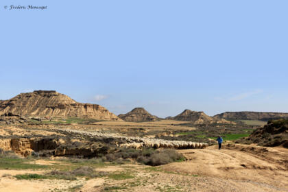 Paisaje formado por la erosion en Las Bardenas
