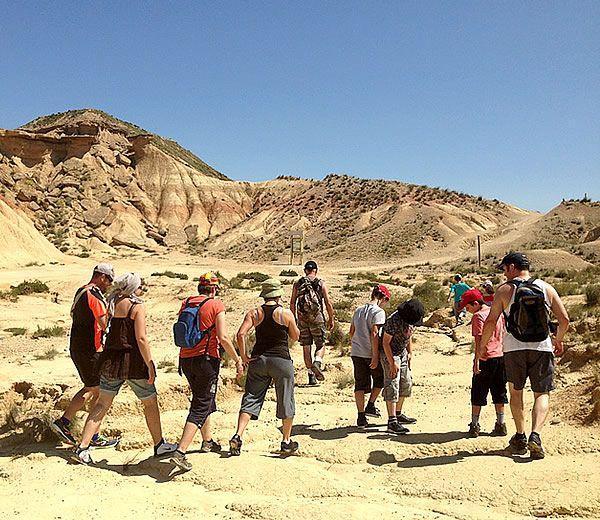 Rutas andando por el desierto de Bardenas